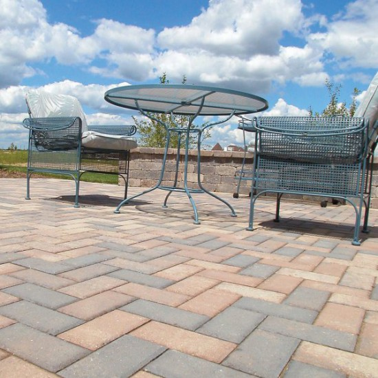 Patio featuring Unilock Hollandstone paver