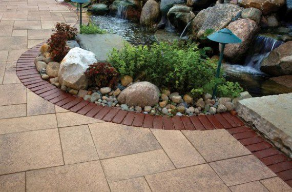 Paver walkway by Unilock with Umbriano and Copthorne